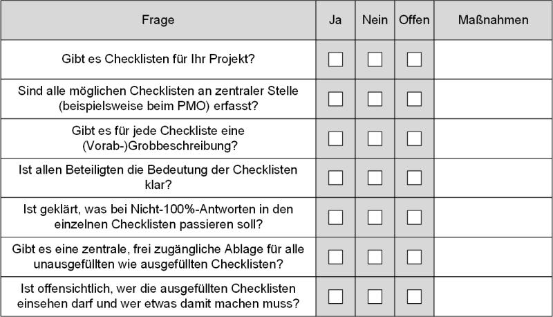 Checkliste: Funktionieren Checklisten in der Organisation?, (C) Peterjohann Consulting, 2019-2021