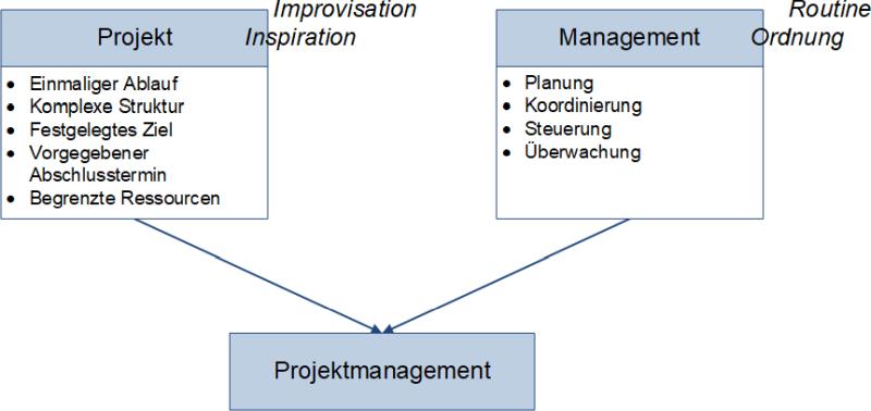 Eine Definition des Projektmanagements, (C) Peterjohann Consulting, 2006-2021