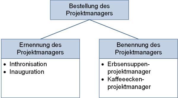 Die Bestellung des Projektmanagers, (C) Peterjohann Consulting, 2020-2021