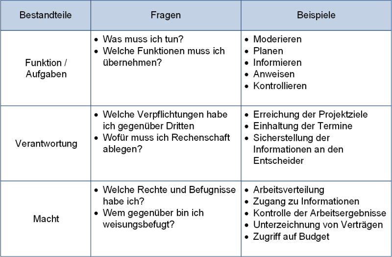 Der Handlungsrahmen des Projektmanagers, (C) Peterjohann Consulting, 2020-2021
