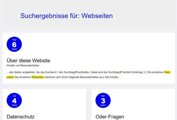 Suchergebnis-Beispiel, (C) Peterjohann Consulting, 2020-2021