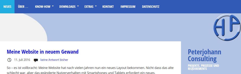 Website 2016 - Layout